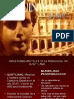 Ideas Fundamentales de La Pedagogia de Quintiliano