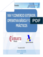 Agencia Tributaria y Cámara de Oviedo- IVA COMERCIO EXTERIOR