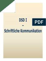 DSD I Schriftliche Kommunikation