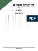 Pdt 2013 Answer Keys