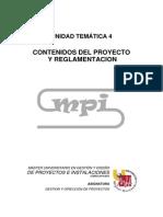 1.1.1.UT4 Contenidos Del Proyecto y Reglamentación Rev1.110914