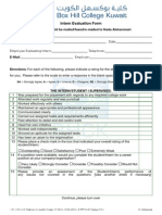 Intern Evaluation Form for Employer