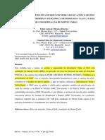 A- Avaliação Estimativa Risco de Merc Ações Compra Petrobras Usando VaR