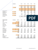 Financial Projections Template v 1.34.01