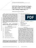 MATLABSIMULINK Based Model of Single Machine Infinite Bus With TCSC for Stability Studies and Tuning Employing GA