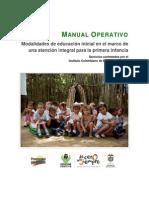 MO2.MPM1 Modalidades de Educacion Inicial en El Marco de Una Atencion Integral Para La Primera Infancia v1