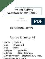 Mr 29 September 2015