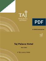 Hotel Taj Palace Presentation