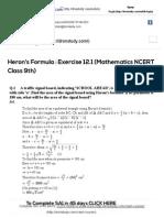 Heron's Formula _ Exercise 12.1