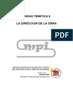 1.1.1-UT9 La Dirección de La Obra 01092014