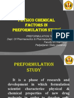 Physico Chem Properties and Preformulation