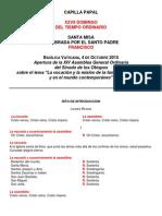 Misal Apertura Sinodo 20151004