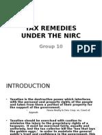 Tax Remedies 2011.Ppt