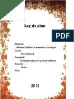 Ley de Ohm y Kirchhoff
