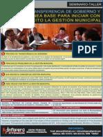 Seminario - Transferencia de Gobierno - Linea base para iniciar con exito la Gestión Municipal 2015-2018 - AFICHE WEB