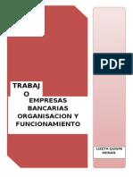 EMPRESAS BANCARIAS ORGANISACION Y FUNCIONAMIENTO