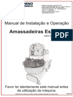 Manual de Instalação e Operação . Amassadeiras Espiral