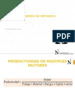 Clase 02 Metodos I Productividad Mùltiples Factores Eficiencia