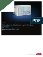 RET620 Application Manual