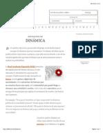 Definición de dinámica - Qué es, Significado y Concepto