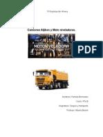 Informe Carguio Camion Aljibe y Motoniveladoras