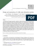 Design & Construction of LiBr_H2O Machine