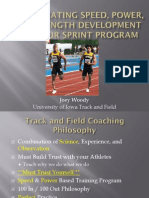 Woody Joey Incorporating Speed Power and Strength Development Into YOUR Sprint Program