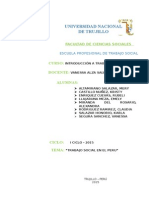 Informe Trabajo Social en El Perú