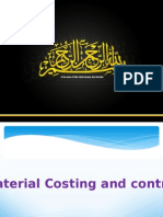 Material Costing and control