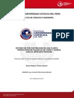 Chavez Bryan Pre Factibilidad Procesamiento Hojuelas Tarwi Quinua