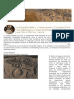 Los Valores Nacionales y Universales de La Civilizacion Caral y La Ciudad Sagrada