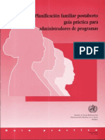 Planificacion Familiar Post Aborto - OMS