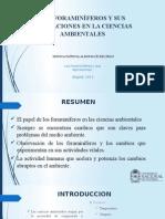 Los Foraminíferos y Sus Aplicaciones en La Ciencias Ambientales