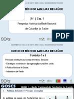 UFCD 6557 - Rede Nacional de Cuidados de Saúde - Persp. Historica