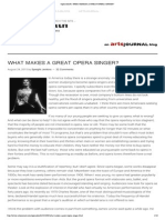 What Makes a Great Opera Singer
