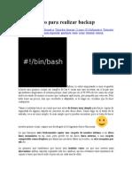 Script Basico Para Realizar Backup linux