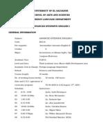 Advanced Intensive English i Program 2014