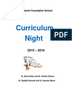 sk curriculum night package
