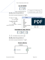 Tema 1. Formulario Básico de Electricidad