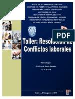 Taller de Resolución de Conflictos Laborales