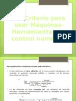 3.4 Criterio Para Usar Máquinas Herramientas