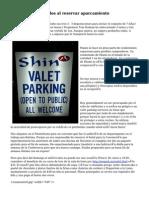 Consejos y métodos al reservar aparcamiento