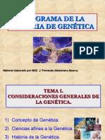 Programa de La Materia de Genética