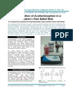 Determination of Acetaminophen in a Children's Pain Relief Elixir