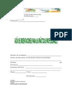 Guía de Orientaciones Para Las Practicas Profesionales de La Profesora Oneyda