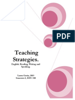 reading writing and speaking strategies