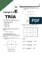 Trigonometría - Reducción Al Primer Cuadrante