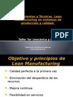 Aplicación de Las Técnicas Lean Manufacturing