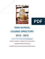 15-16 high school course directory