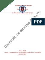 Operaciones de Servicios de Pozos